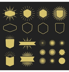 Golden silhouette design elements set vector image vector image