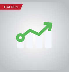 isolated arrow flat icon growth element vector image