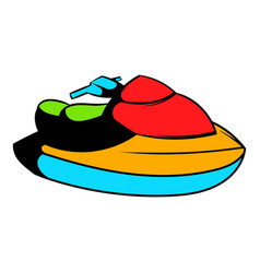 jet ski water scooter icon icon cartoon vector image