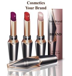 Lip stick cosmetics packaging mock up vector
