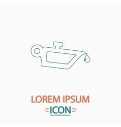 lube oil computer symbol vector image