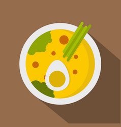 Miso soup icon flat style vector