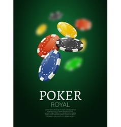 Poker chips bacgkground poker casino template vector