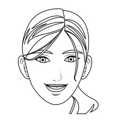 pretty face woman smile hair style vector image vector image