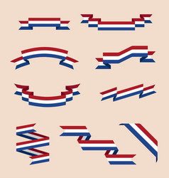 Ribbons or banners in colors of netherlands flag vector