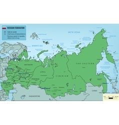 Russian federation map with selectable territories vector