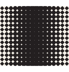 Seamless black and white morphing star vector