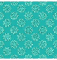 Seamless pattern with hand-drawn abstract flowers vector image