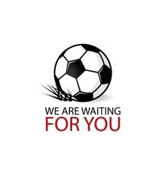 Soccer ball grass logotype vector image