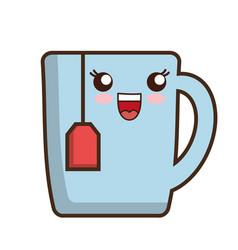 Tea mug icon vector