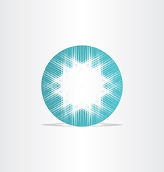 Turquoise star abstract circle background vector