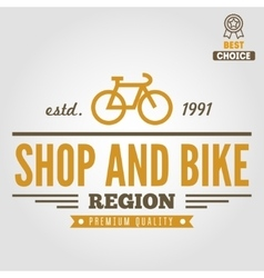 Vintage and modern bicycle shop logo badge or vector image