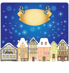 winter town vector image vector image