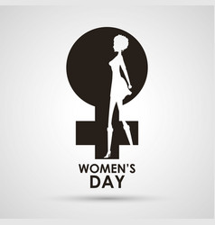 womens day gender symbol with girl vector image vector image