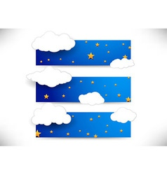 Collection of cards with clouds vector
