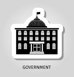 Black government building web sticker vector