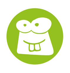 Frog comic character icon vector