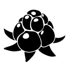 wild raspberry icon simple style vector image