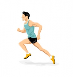 Athlete running vector