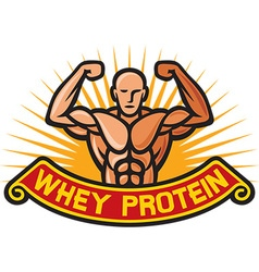 Whey protein label vector