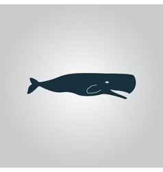 Sperm whale icon vector