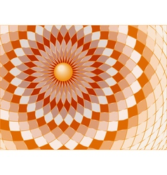 Spirals and checks vector