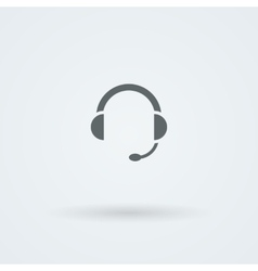 Minimalistic icons big headphones with a vector