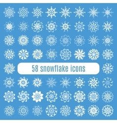 Collection of elegante stylish snowflakes isolated vector