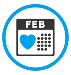 Valentine february day rounded icon vector