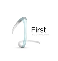 Number one first logo vector