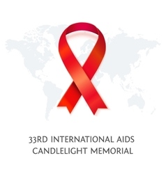 Awareness red ribbon symbol of aids vector