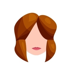 Female hairstyle icon cartoon style vector