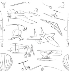 Aviation icons set pattern vector