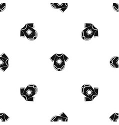 Baby bodysuit pattern seamless black vector