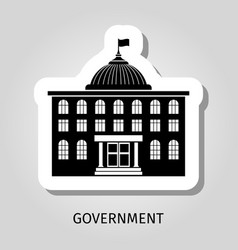black government building web sticker vector image vector image