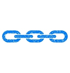 Chain Grainy Texture Icon vector image vector image