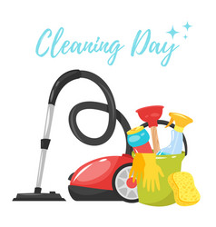 Cleaning service tools banner vector