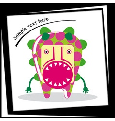 Colorful monster on white background vector image vector image