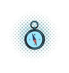 Compass comics icon vector