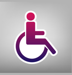 disabled sign purple vector image vector image