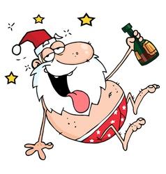 Drunk Santa vector image vector image