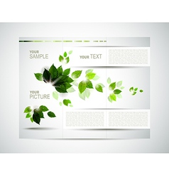eco brochure vector image