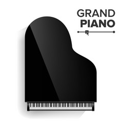 grand piano realistic black grand piano vector image vector image