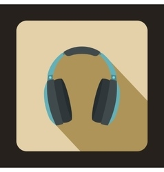 Headphones icon in flat style vector image vector image