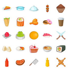 Ingredient icons set cartoon style vector