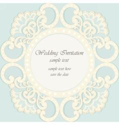 Invitation card ornamental lace vector