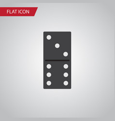Isolated domino flat icon bones game vector