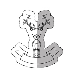 Isolated reindeer of christmas season design vector
