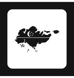 Map of Singapore icon simple style vector image vector image