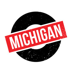 Michigan rubber stamp vector
